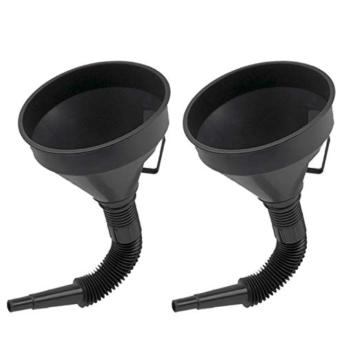 U-BCOO Multi-fFunctional Plastic Funnel Oil Funnel with Flexible Extension Nozzle for Cars and Motorcycles, Engine Oil