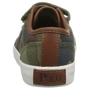 Polo Ralph Lauren Kids Ethan Low EZ Army Camo CVS Shoe (Toddler),Army Green,4 M US Toddler