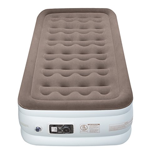 Etekcity Air Mattress Twin Blow Up Raised Guest Durable Firm Bed Inflatable Airbed with Built-in Electric Pump, Easy Setup Height 18