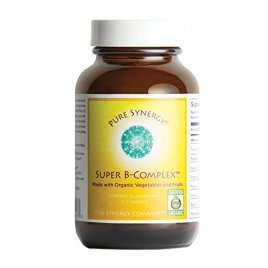 Pure Synergy Super B-Complex (60 Tablets) B Vitamin Made w/ Organic Fruits & Veggies