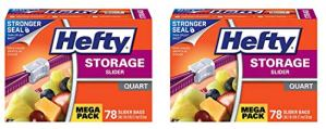 Hefty Slider Plastic Food Storage Bags – 1 Quart