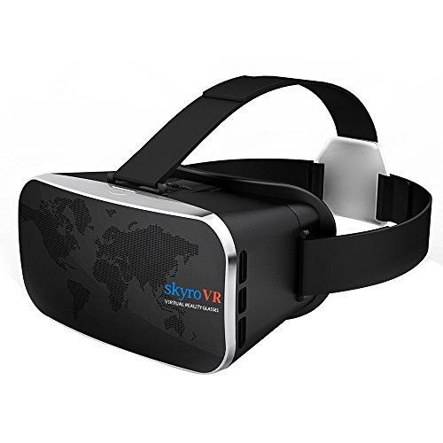 Virtual Reality Headset, Skyro VR Headset and 3D Video Glasses for VR Games and 3D Movie, Compatible with 4.0-6.0 Inch iPhone & Android