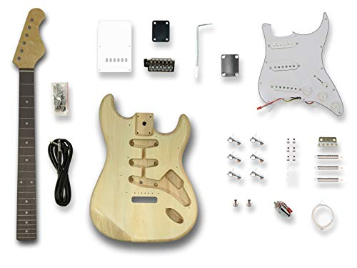 DIY Electric Guitar Kits for ST Electric Guitar,Poplar wood Body, Linden Veener Top & back