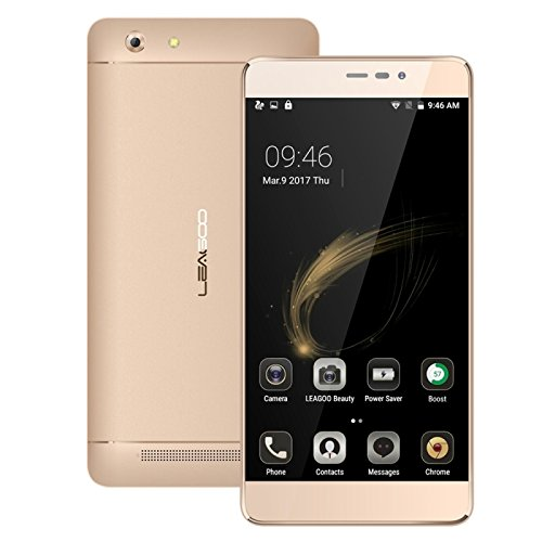 LEAGOO Shark 5000 1GB+8GB 5.5 Inch LEAGOO OS 2.0 (Android 6.0) MTK6580A Quad Core up to 1.3GHz WCDMA & GSM (Gold)