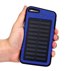 Power Bank,AutumnFall Silicone 20000mAh Dual-USB Waterproof LED Solar Power Bank Battery Charger For All Smartphones