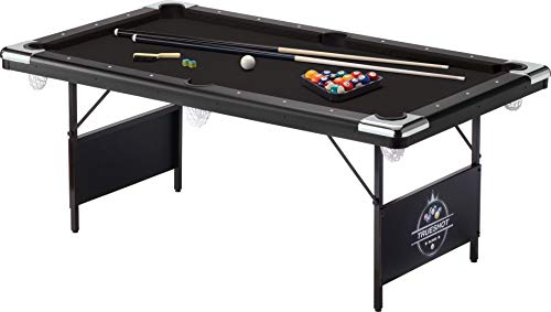 Fat Cat Trueshot 6' Pool Table with Folding Legs for Easy Storage,...