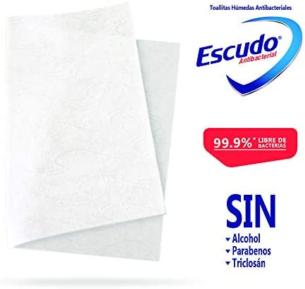 41CNjcsDE1L. AC  - Escudo Antibacterial Toallitas Húmedas, 1 Paquete con 50 Toallitas, Protección y Limpieza para tu Piel #Amazon