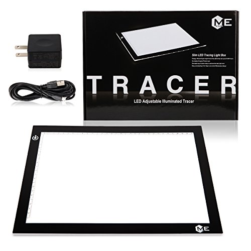 ME456 A4 LED Light Box 9×12 Inch Light Pad Only 5mm Ultra-thin USB Power Light Table for Tracing