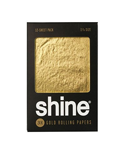 Shine 24K Gold Rolling Papers – 12 PK – 1 1/4″