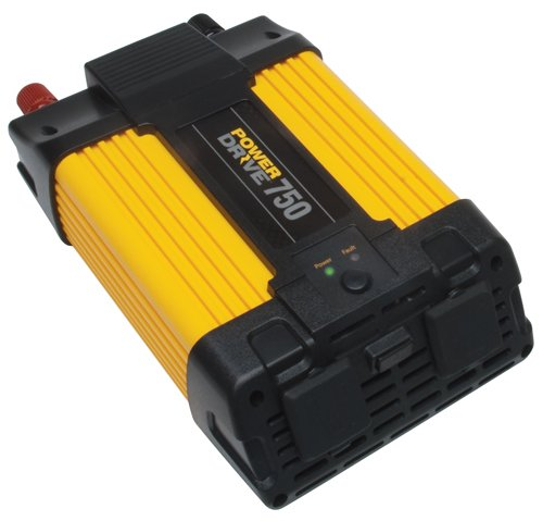 PowerDrive RPPD750 750-Watt DC to AC Power Inverter with USB Port and 2 AC Outlet