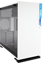 In Win 101 White ATX Mid Tower Gaming Computer Case with Tempered Glass White