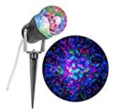 Gemmy Lightshow Multicolor Kaleidoscope Projection Red, Green and Blue Holiday Light for Halloween & Christmas (Bulk Packaging)