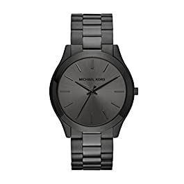 Michael Kors Slim Runway Stainless Steel Watch title