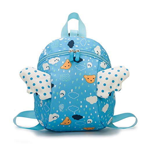 TYPEIN Children's Fashion Bag Cute Light Kindergarten Bag Small Wings Cartoon Backpack For Shcool Outdoors Travel