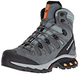 Salomon Women's Quest 4D 3 GTX Backpacking Boots, Lead/Stormy Weather/Bird Of Paradise, 9.5