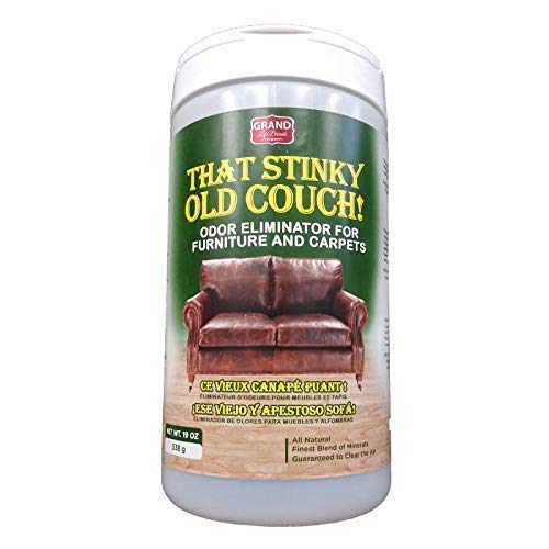 Stinky Old Couch - Premium Safe and Natural Furniture and Carpet Odor Neutralizer Permanently removes Smells of Pets, Urine, Food, Mold, Mildew, Smoke from Furniture Floors Carpets