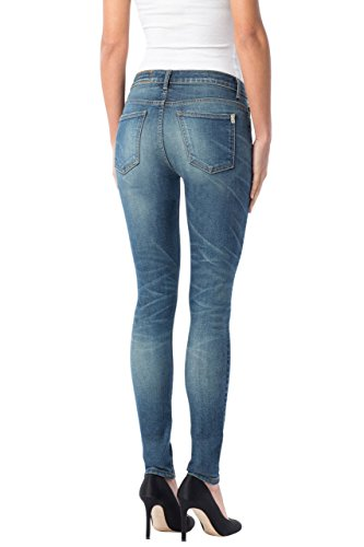41CcZW5ONRL Midrise skinny jean in ankle silhouette featuring faded medium rinse with allover whiskering Contrast stitching