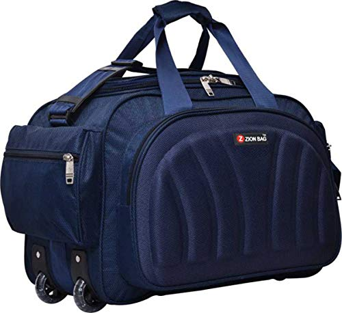 Zion bag Waterproof Polyester Lightweight Blue 40 L Travel Duffel Bag with 2 Wheels