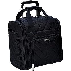 AmazonBasics Underseat Luggage, Black Quilted