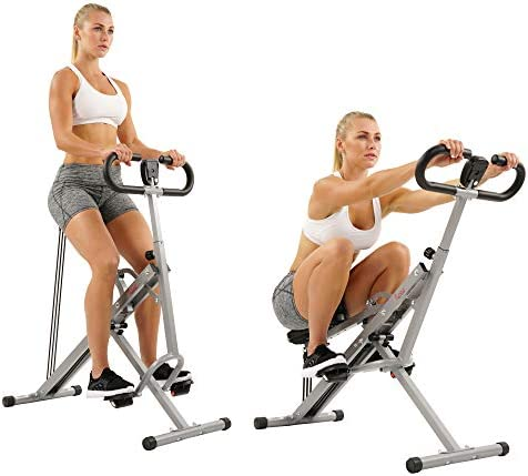 Sunny Health & Fitness Squat Assist Row-N-Ride Trainer for Squat Exercise and Glutes Workout 8