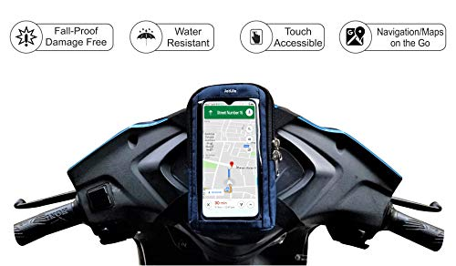 JetLife Fall-Proof, Rain-Resistant & Safest Mobile Holder for Scooter/Scooty/Moped Activa, Scooty, Jupiter, Access Etc| Fits All Smartphone Sizes| Universal Mobile Holder/Mount/Stand 159