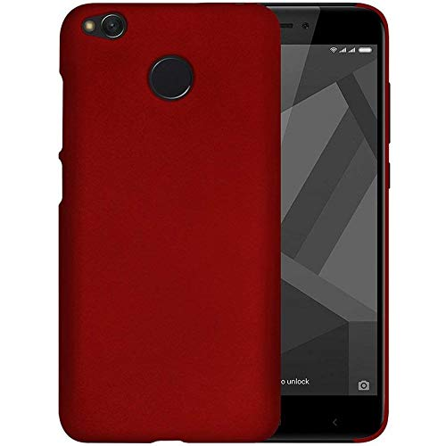 SMARTSURF CASES XIAOMI REDMI 4 / 4X Imported Matte Finish Hard Back CASE Cover (Material-Plastic)(Color-RED) 131