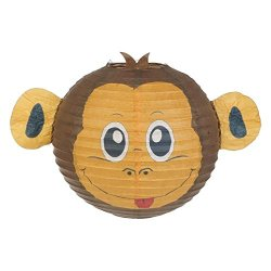 Monkey Lampshade Decorative Animal Lampshades for Children bedroom playrooms baby nursery lighting Fun and vibrant colours makes Pendant lights and Ceiling shades something special and a great gift