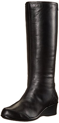 41CwaiAodwL Knee-high boot featuring waterproof upper with quilted heel counter and small wedge Full-length instep zipper Full Poron arch support
