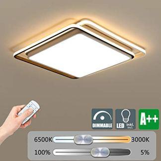 ZYY Lampada da soffitto a LED dimmerabile Lampada da soffitto moderna, design in metallo e acrilico Decorazione Personalità di illuminazione Soggiorno Soffitto creativo Luce camera da letto 3 Lampadin