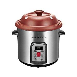 Vitaclay-VM7800-5C-Smart-Organic-Clay-Multi-Crocks-N-Stock-Pot-65-quart-Stainless-SteelBlack