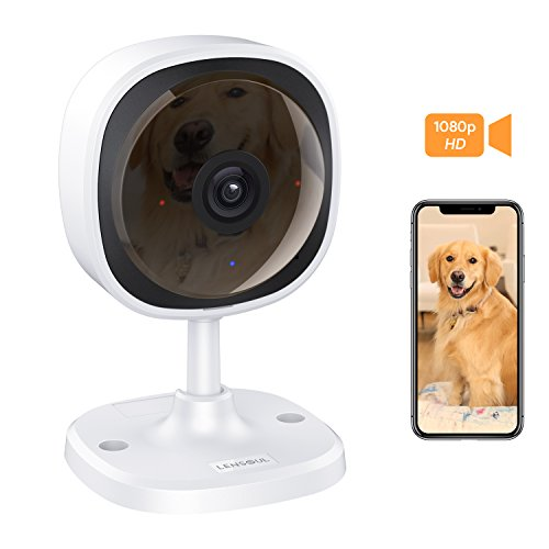 Lensoul 1080P HD Security Camera, Wireless IP Camera Built in Two-way Audio, Motion Detection, Security Surveillance CCTV Camera with Night Vision-Cloud Service Available