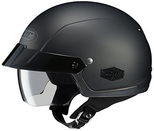 HJC IS-Cruiser Motorcycle Half-Helmet (Matte Black, X-Large)