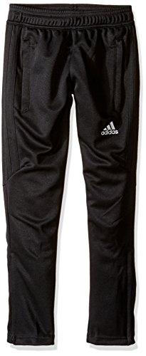 adidas Youth Soccer Tiro 17 Pants, X-Large - Black/Trace Green