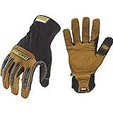 Ironclad Ranchworx Work Gloves RWG2, Premier Leather Work Glove, Performance Fit, Durable, Machine Washable, Sized S, M, L, XL, XXL, XXXL (1 Pair)