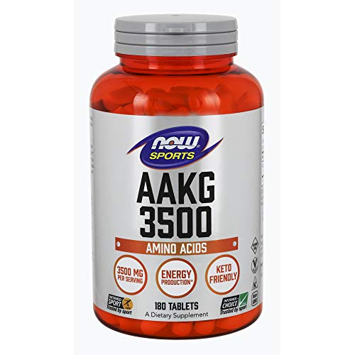 NOW Sports Nutrition, AAKG (Arginine Alpha-Ketoglutarate) 3500 mg, Amino Acid, 180 Tablets
