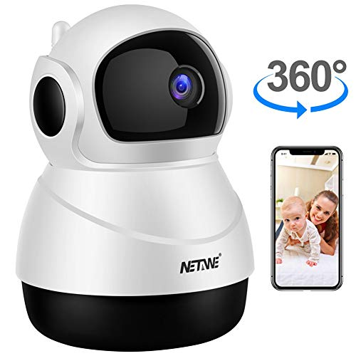 WiFi IP Camera 1080P Wireless Security Camera Indoor Home IP Camera Baby Pet Monitor Indoor Dome Camera with Night Vision, 2-Way Audio, Motion Detection and Cloud Storage Support 2.4G WiFi (White)