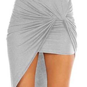 Womens Drape Up Stretchy Asymmetrical High Low Short Mini Bodycon Pencil Skirt 16 Fashion Online Shop gifts for her gifts for him womens full figure