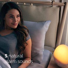Philips-SmartSleep-Wake-up-Light-Colored-Sunrise-and-Sunset-Simulation-5-Natural-Sounds-FM-Radio-Reading-Lamp-Tap-Snooze-HF352060