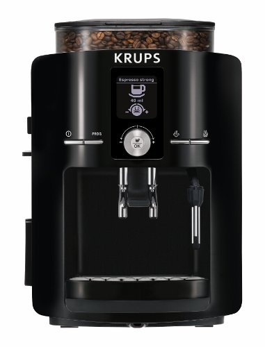 KRUPS EA8250 Fully Auto Espresso Machine, Espresso Maker, Burr Grinder, 60 Ounce, Black