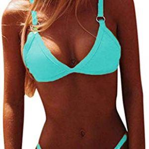 CheChury Sexy Costume da Bagno Bikini Donna Push-up Reggiseno Imbottito Spiaggia Bikini Set Beachwear Due Pezzi Mare e…