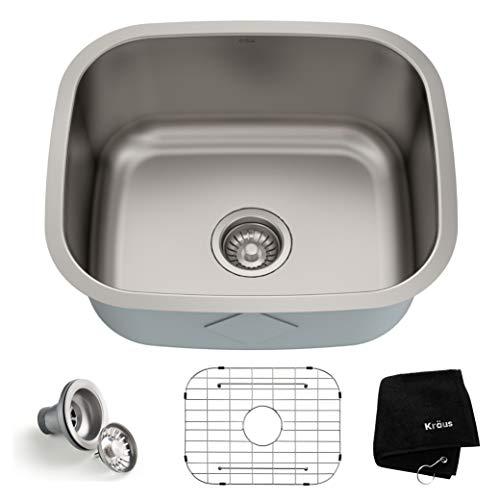 Kraus-KBU11-20-inch-Undermount-Single-Bowl-16-gauge-Stainless-Steel-Kitchen-Sink