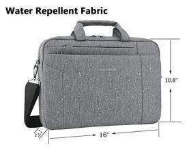 KROSER-Laptop-Bag-156-Inch-Briefcase-Shoulder-Messenger-Bag-Water-Repellent-Laptop-Bag-Satchel-Tablet-Bussiness-Carrying-Handbag-Laptop-Sleeve-for-Women-and-Men-Grey