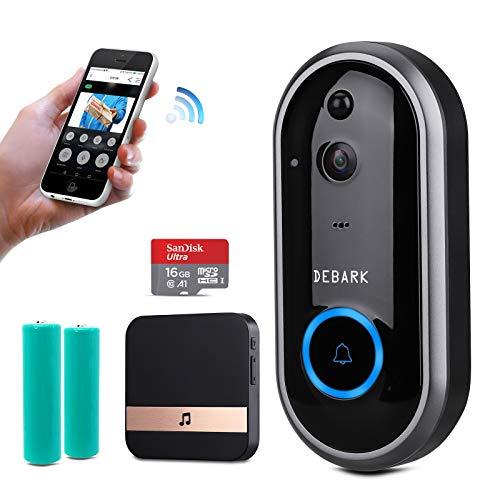 DEBARK Smart Video Doorbell Wireless Home WiFi Security Camera