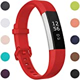 Maledan Replacement Bands Compatible with Fitbit Alta/Alta HR/Ace for Women Men Kids, Small, Red