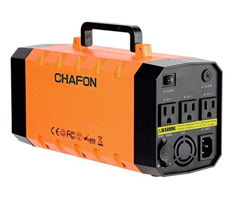 346WH Portable UPS Battery Backup Generator,Rechargeable Power Source Inverter with 110V/500W AC Outlet,12V Car,USB Output for Camping -Orange