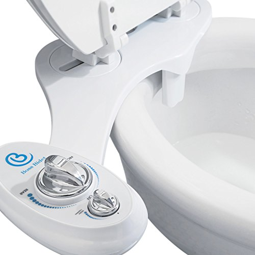 Bidet Toilet Seat Attachment by BOSS | Fresh Water Sprayer | Cleans Your Rear Better Than You Can | Dual Nozzle | Self Cleaning | Manual | Non Electric | Luxury White & Black | 1 Year Warranty