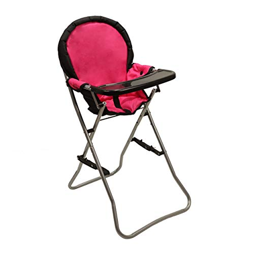 Mommy & Me Doll Collection High Chair, Pink, 25'