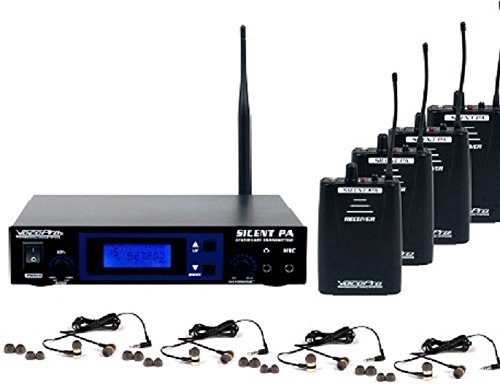 VocoPro SILENTPA-IN-EAR-BAND Professional PLL Wireless In-Ear Monitor Package with Stationary Transmitter