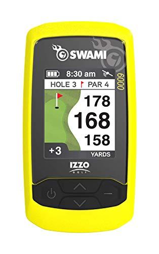 """Izzo Golf Swami Handheld 6000 Golf GPS, Yellow, 3.75"""" x 2"""" x 1"""""""