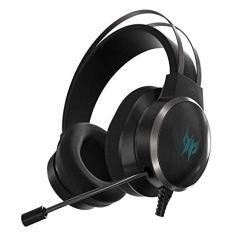 Acer Predator Galea 500 Wired Gaming Headset (Over-The-Head/TrueHarmony 3D Soundscape/Bio-Cellulose Membrane Driver/Uni-Directional Mic/Metallic Black)